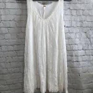 Free People White Lace Tank Boho Dress